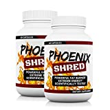 (2-PACK) PHOENIX SHRED™: Extreme Fat Loss & Powerful Energy Pills - Vegetarian, Dairy, & Gluten Free - Made in USA (60-Day Supply)