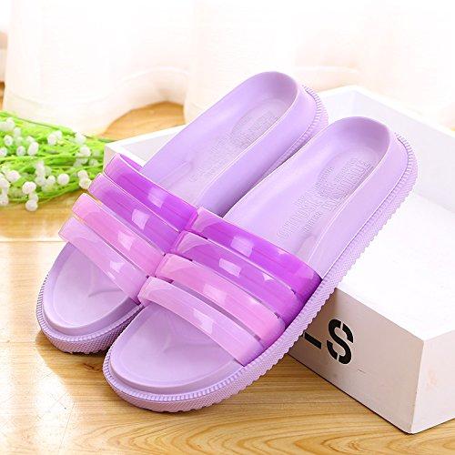 Zapatillas de casa de baño,40 purpura 39 Purple
