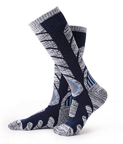 Mens Ski Boot Socks 1 Pack High Performance Skiing Socks Dark Blue