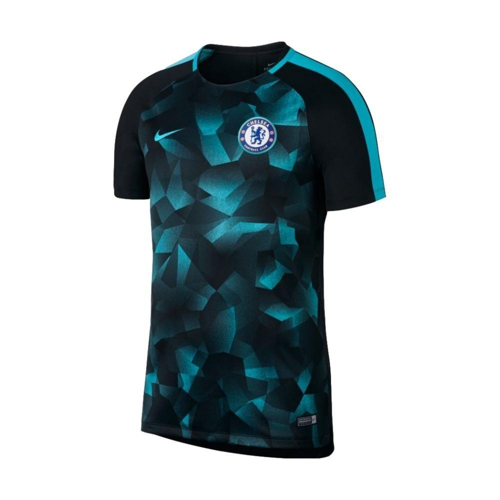 2017-2018 Chelsea Nike Dry Squad Training Shirt (Black) Kids B076F8QX2H XLB 32-35
