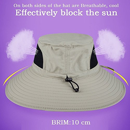 EINSKEY Wide Brim Sun Hat Summer UV Protection Beach Hat Showerproof Safari...