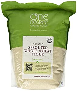 One Degree Organic Foods Sprouted Whole Wheat Flour, 80 Ounce