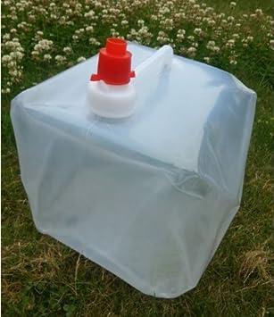 jarra de Agua plegable para agua potable con Hahn 10 L Agua Bidón Contenedor agua Depósito