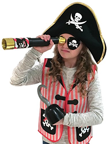 Auberge Kids Costumes Pretend Dress Up Role Play Sets (Pirate) -