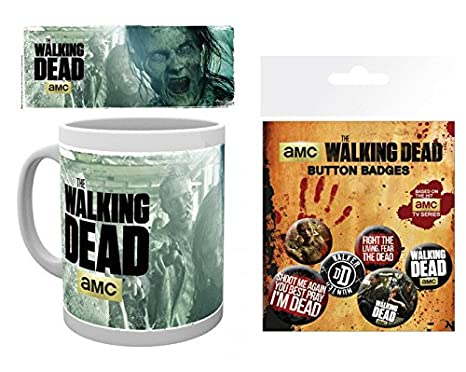 Set: The Walking Dead, Zombies 2 Taza Foto (9x8 cm) Y 1