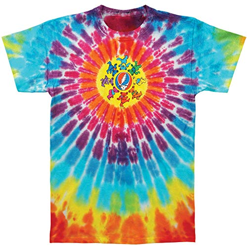 A&E Designs Grateful Dead Kids T-shirt - Circle Bears Youth Tie Dye, Large (14-16)