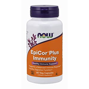 NOW Supplements, EpiCor Plus Immunity, 60 Veg Capsules