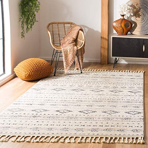Safavieh Marrakech Collection MRK751A Area Rug, 6 7 Square, Ivory Navy
