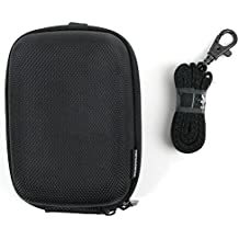 Hard Water Resistant Rigid EVA Shell Case in Classic Black with Belt Loop for the Bushnell Neo Ghost Golf GPS - by DURAGADGET
