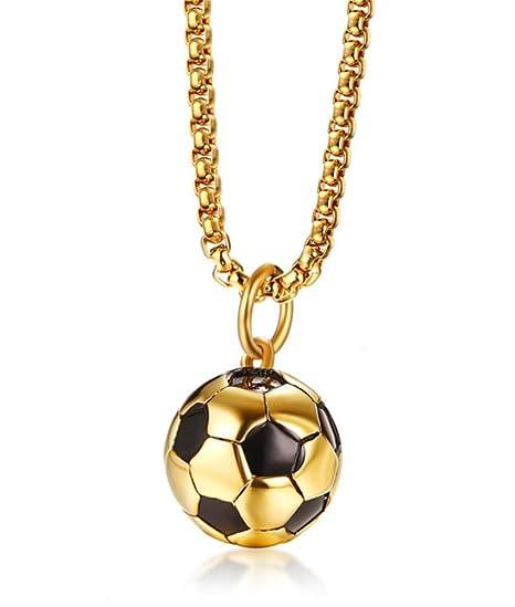 XJYA Collar De Fútbol, Collar Colgante De Bola De Balón De Fútbol ...