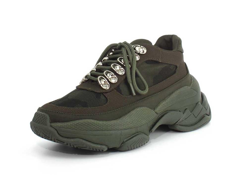 Jeffrey Campbell Womens Hotspot Sneaker B07C3DXG7H 10 B(M) US|Khaki Mesh Combo