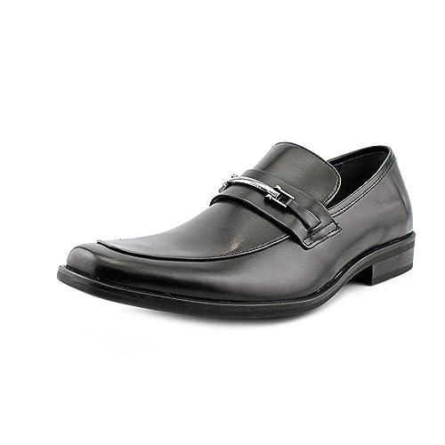 Steve Madden Cal Hombre Negro Piel Mocasines Zapatos Talla EU 42,5: Amazon.es: Zapatos y complementos