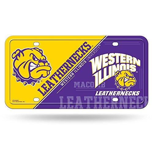 Rico NCAA Western Illinois Leathernecks Metal Auto Tag - Western Illinois Leathernecks Car