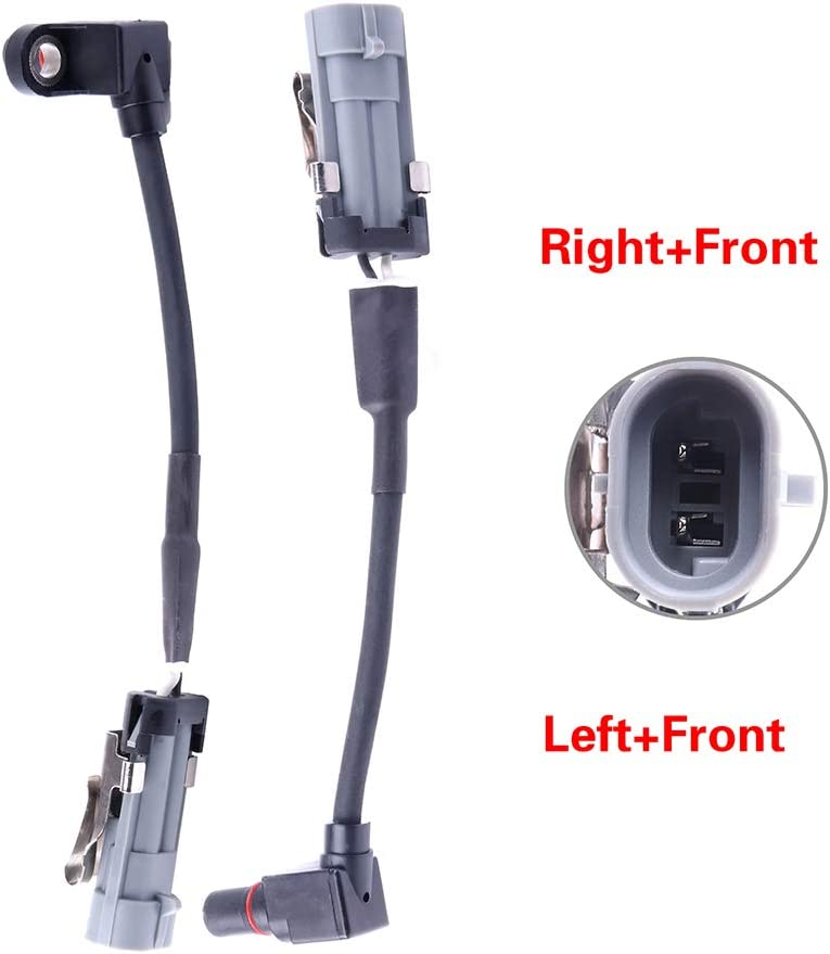 ZENITHIKE ABS Wheel Speed Sensor Left /& Right /& Front ALS1344 Compatible with 2006 Pontiac Torrent 2005-2006 Chevrolet Equinox