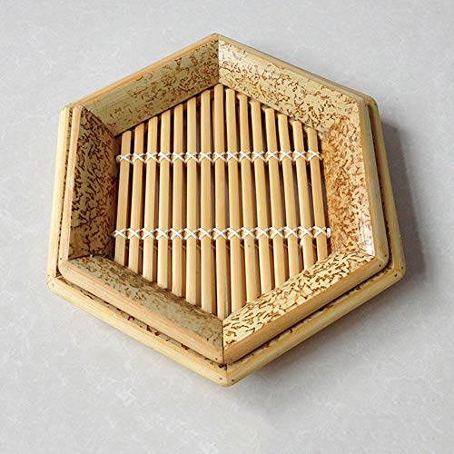 Amazon.com: Hexagon - Cesta de bambú natural tejida a mano ...
