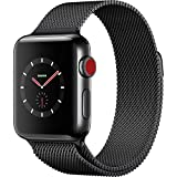 Apple Watch Series 3 - GPS+Cellular - Space Black Stainless Steel Case with Space Black Milanese Loop - 42mm