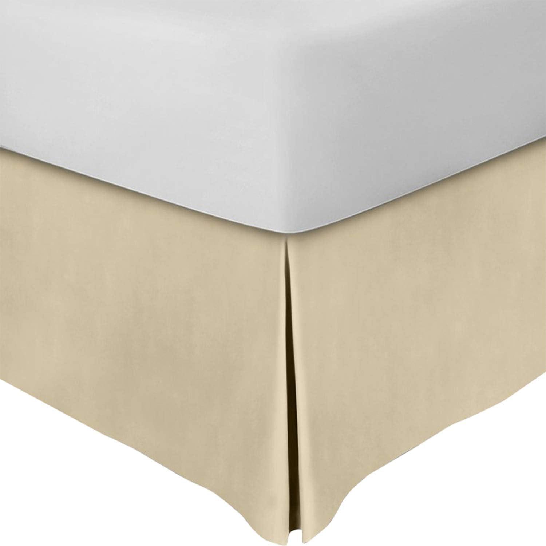 Utopia Bedding King Bed Skirt,16 Inch Drop (Beige)