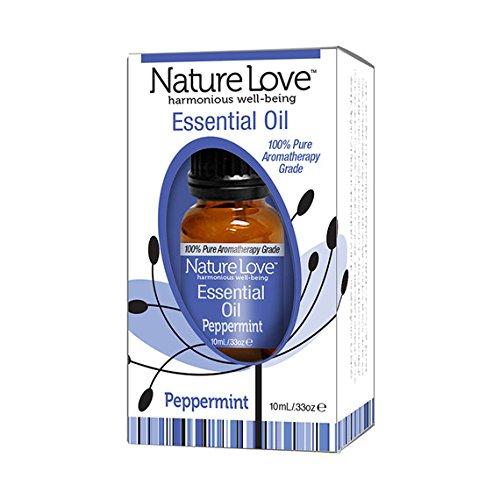 Nature amour 100 % pur bien-être harmonieux huile essentielle menthe poivrée.34 oz bouteille
