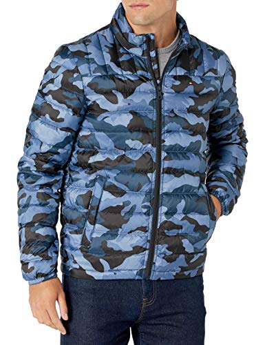 Tommy Hilfiger Men's Lightweight Water Resistant Packable Down Puffer Jacket (Standard and Big & Tall)