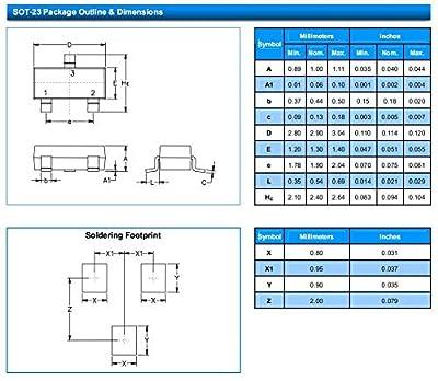 Leiditech SMC24 SOT-23 ESD electrostatic Suppression diode, Anti-Static (50PCS)