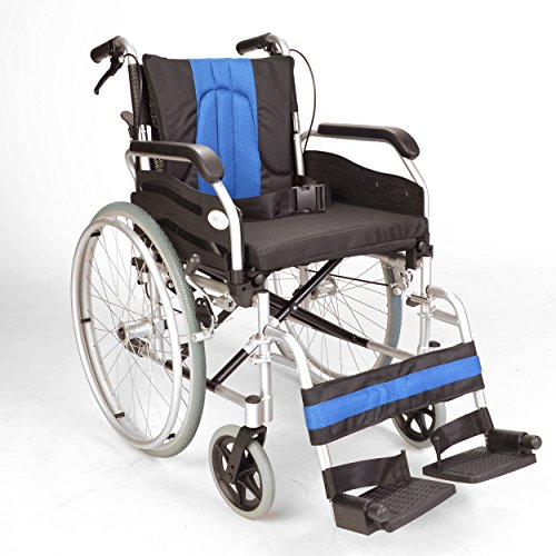 Lightweight folding self propel wheelchair with handbrakes and quick...