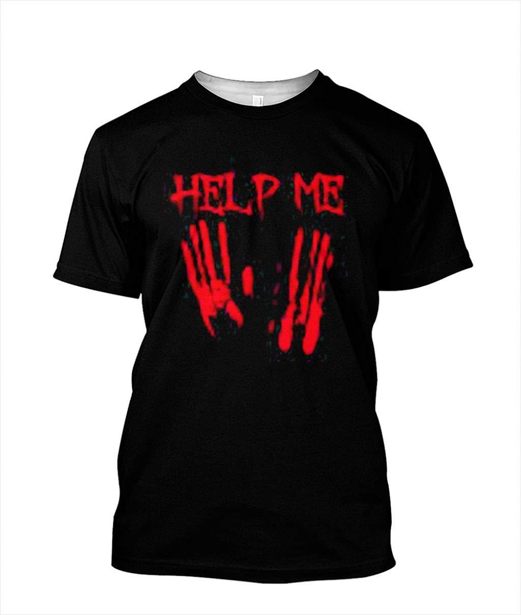 Help Me Halloween Bloody Creepy Vintage Horror Movie Gift T Shirt