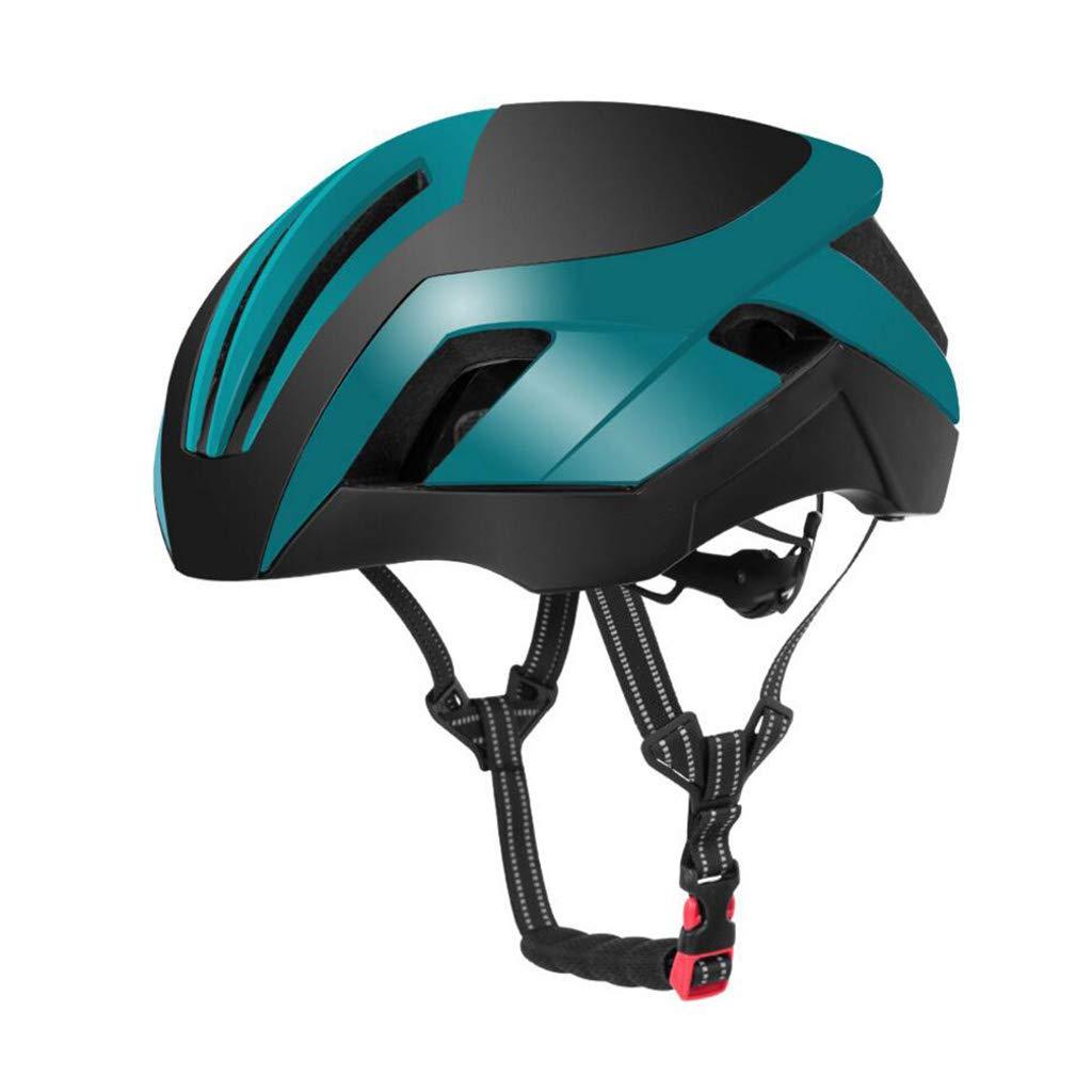 ヘルメット サイクルヘルメット、ロードマウンテンバイクヘルメット調整可能な軽量専門男性の女性の空気圧ヘルメットバイクレーシング安全キャップ  Green B07PYFYZK6