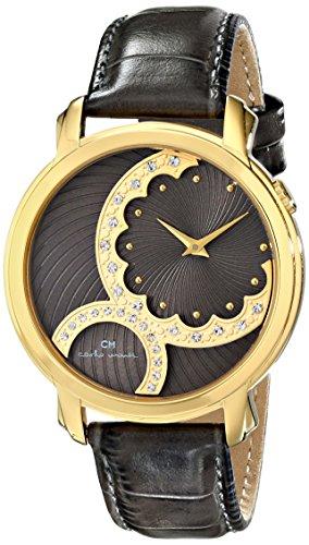 Leather Carlo Monte Watch (Carlo Monti Women's CM802-290 Analog Display Quartz Grey Watch)