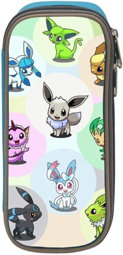 Pokemon Eevee Anime Student Stationery - Estuche escolar para niñas y niños, azul, ONE_SIZE: Amazon.es: Amazon.es