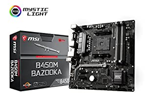 MSI Arsenal GAMING AMD Ryzen 1st and 2nd Gen AM4 M.2 USB 3 DDR4 DVI HDMI Micro-ATX Motherboard (B450M BAZOOKA)