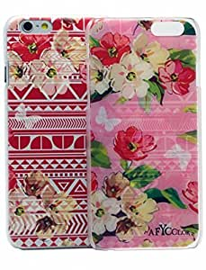 Case For Iphone 5/5S Cover Case AFYCOLOR Hard PC Material with 4D UV Embossing Craft PriAztec Flower Series of Red Flowers
