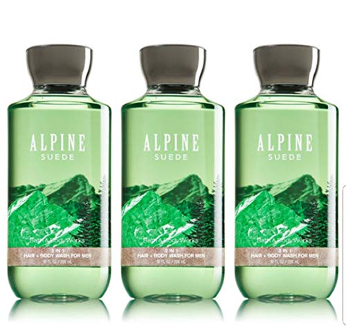 Lot of 3 Bath & Body Works Signature Collection Alpine Suede 2 in 1 Hair & Body Wash 10 fl oz (Alpine Suede)