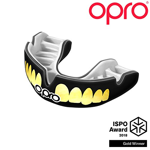OPRO Power-Fit – Adult Handmade Customized-Match Mouthguard for Rugby, Football, and Combat Sports activities- 18 Month Dental Warranty (Appropriate for ages 10+) – DiZiSports Store