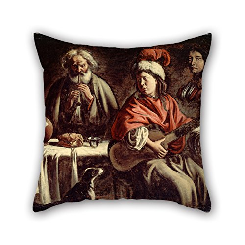 Pillow Shams Of Oil Painting Le Nain, Mathieu - Musicians For Living Room Lounge Monther Chair Car Relatives 20 X 20 Inches / 50 By 50 Cm(both Sides) - Musicians Oil Paintings