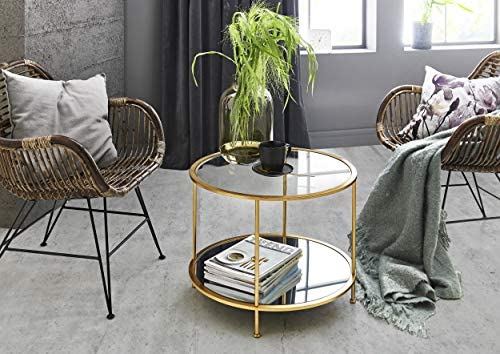 HAKU Möbel Side Table, Gold, 60 x 45 cm