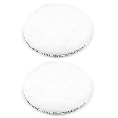 uxcell 6-Inch Wool Polishing Pad Hook and Loop Buffing Wheel for Polisher and Buffer 2 Pcs: Home Improvement