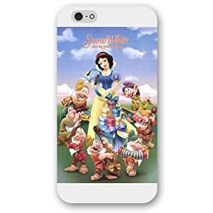 """Customized White Hard Plastic Disney Cartoon Snow White Case For HTC One M7 Cover , Only fit iPhone 6 """""""