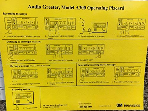 (3M Model A300 Drive-Thru Audio Greeter)