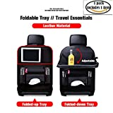kick mats back seat protector Car Seat Protector + Backseat Organizer Table Tray for Baby Leather Foldable Dining With iPad and Tablet Holder, Durable Quality Seat Covers, Travel Accessories 1 Pack