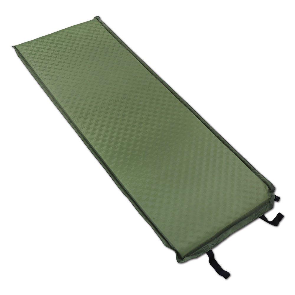 188  66  5 cm selbstaufblasende Camp Selbstaufblasende Matte Pad und Camping Isomatte mit Farbe dunkelgrün