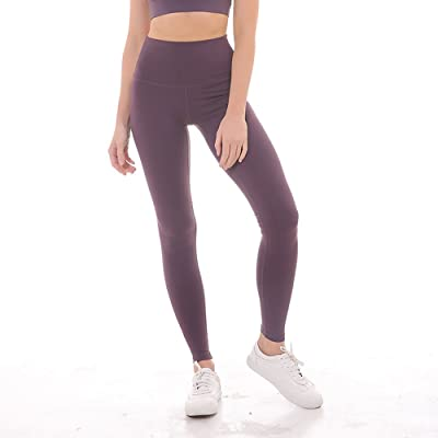 Womens Yoga High-Waist Sport Pants Workout Solid 4-Way Stretch Skinny Pant 2018