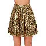 Mily Mini Sequin Skirts Wedding Party Skirts High Waist Skirt M