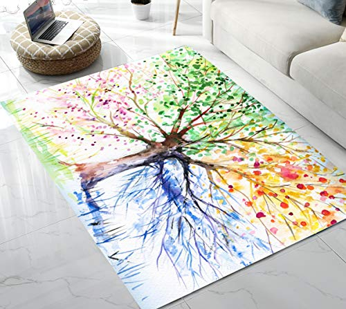 Area Rug Life Tree Area Rug for Living Room Bedroom Playing Room 5'x7'