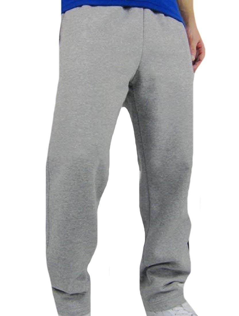 Abetteric Mens Plus-Size Breathable Vintage Fleece Palazzo Trousers 1 M