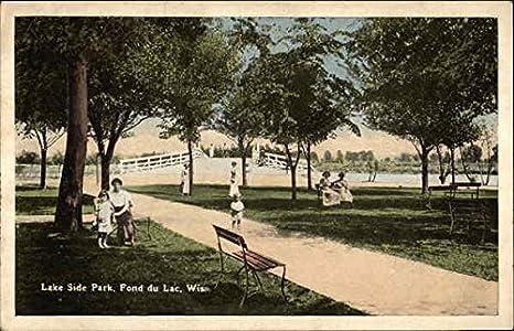Lake Side Park Fond du Lac, Wisconsin Original Vintage