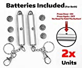 #6: 2x Cat Light Pointers BATTERIES INCLUDED for both + INDIVIDUALLY TESTED for proper function - STAYS ON (w/ONE click) - interactive bright exercise scratching training tool fun cat dog chaser toy