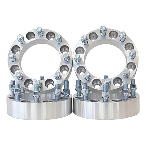 8x170 to 8x170 Thread M14x1.5 - Center Bore 130 MM 1.5'' thick spacer with lug nuts by Smart Parts (Image #4)