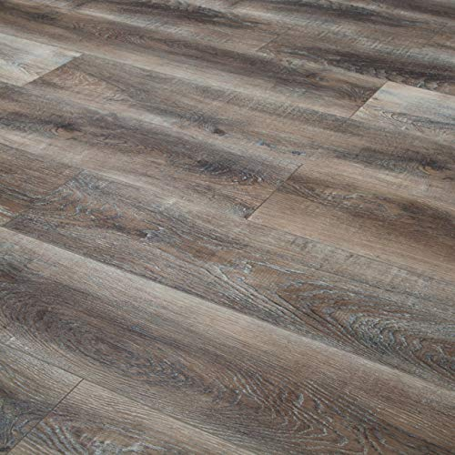 - Bestlaminate Sound and Heavy Sherwood Weathered Oak SPC Vinyl Flooring- Skid Special (35 bxs =840.7sq.ft)