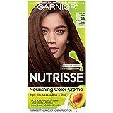 Garnier Nutrisse Nourishing Hair Color Creme, 43 Dark Golden Brown (Cocoa Bean) (Packaging May Vary)