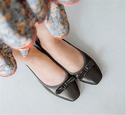 Casual Grey Shoes Women's Flats Walking Flodable Ballerina Deep qwzHZt